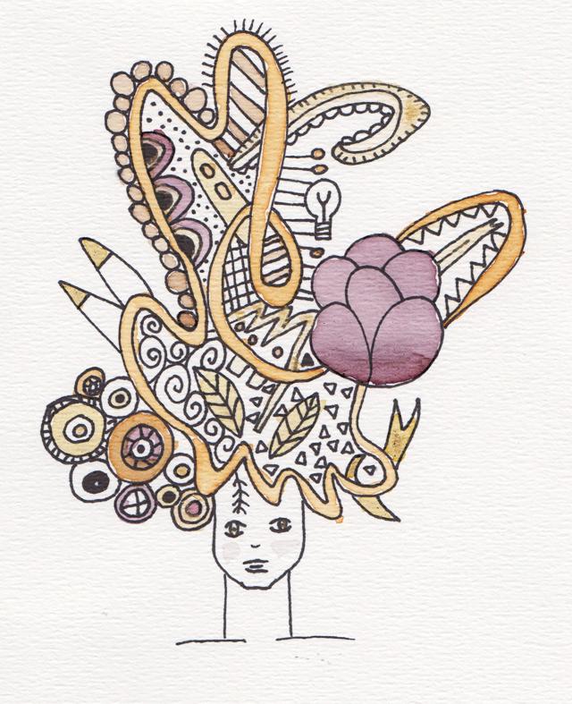 tekening ingekleurd met thee