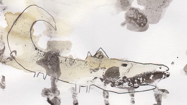 Illustraties met thee en inkt