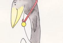 drawing pinguin proud