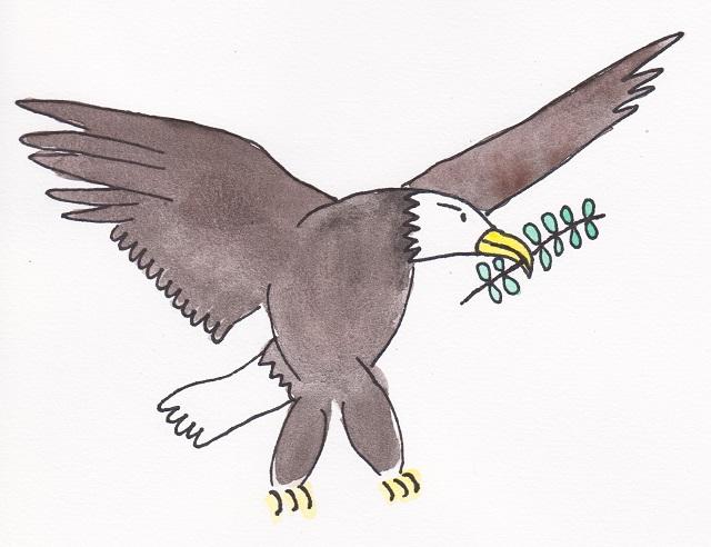 illustration peace bird