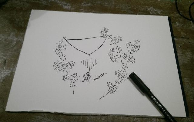 staedler pen tekening
