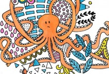 octopus tekenen illustration friday