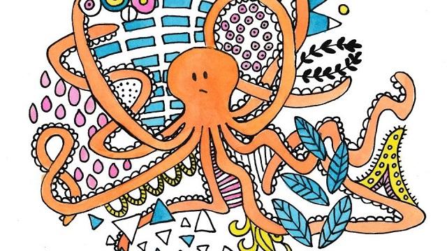 octopus tekenen illustration friday