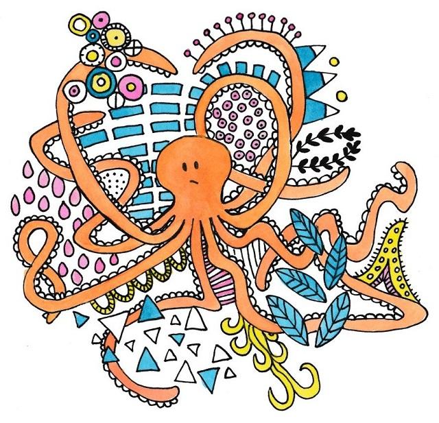 octopus tekenen