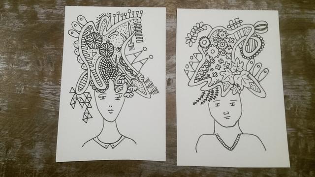 tekenen hoofd met gedachten