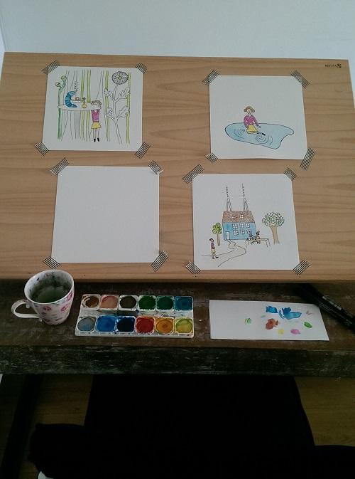 mijn tekentafel