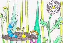 illustration Alice in Wonderland - by Lisanne Lentink