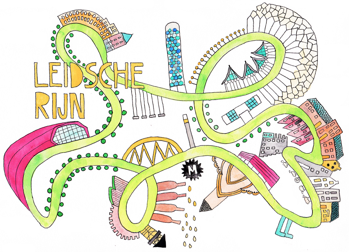 illustratie Leidsche Rijn door Lisanne Lentink