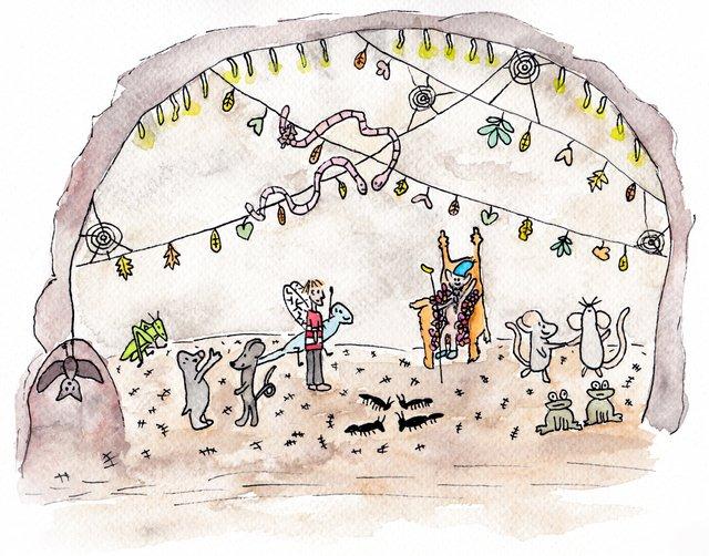 illustratie bij De Kleine Johannes door Lisanne Lentink