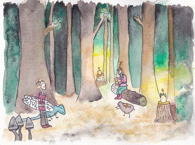 illustraties De Kleine Johannes door Lisanne Lentink