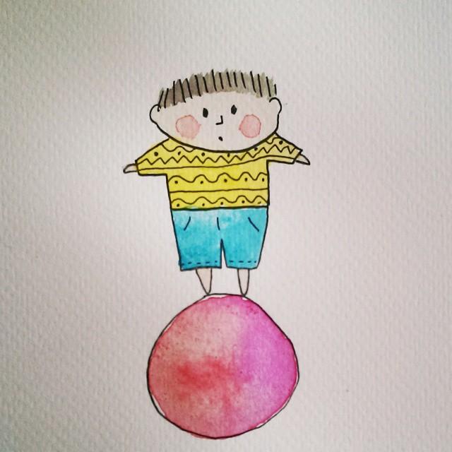 tekening jongetje